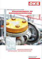OKS product folder, examples of use for screw lubrication
